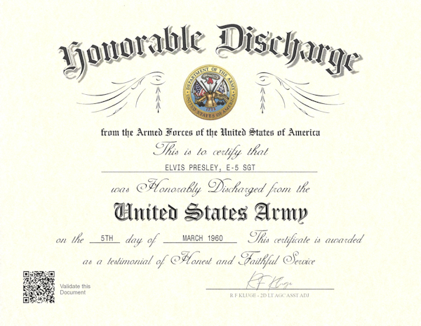 DD256 Military Discharge Certificate